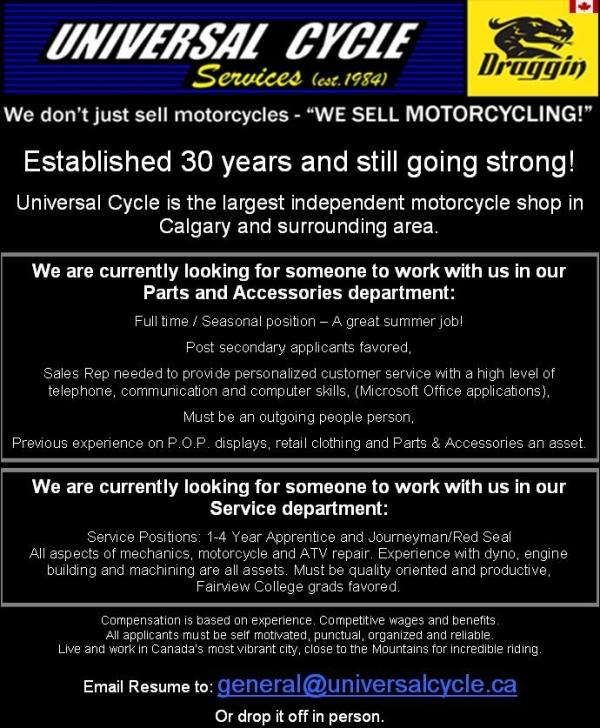 Job Posting 2014