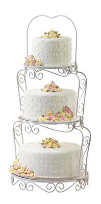 Advanced Fondant - Fondant Tiered Cake with Swags and Bows