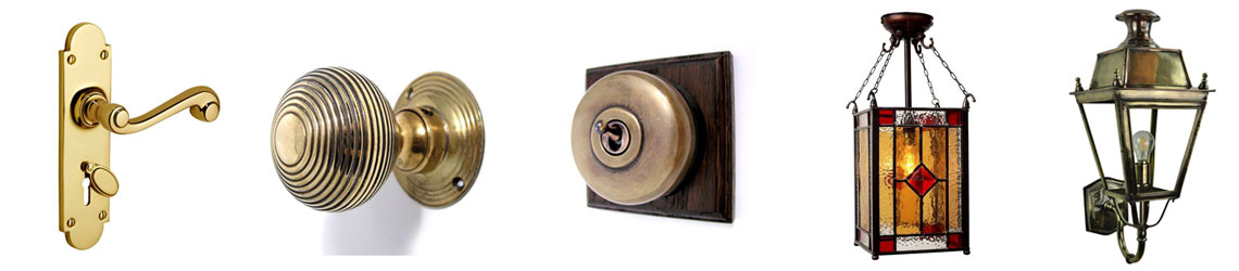 Examples of Victorian architectural hardware and lighting
