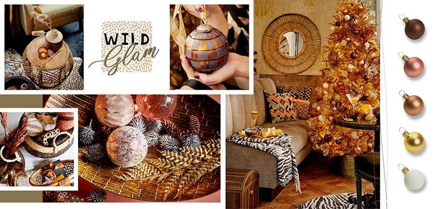Wild Glam - Newlands Christmas Shop Gold Theme