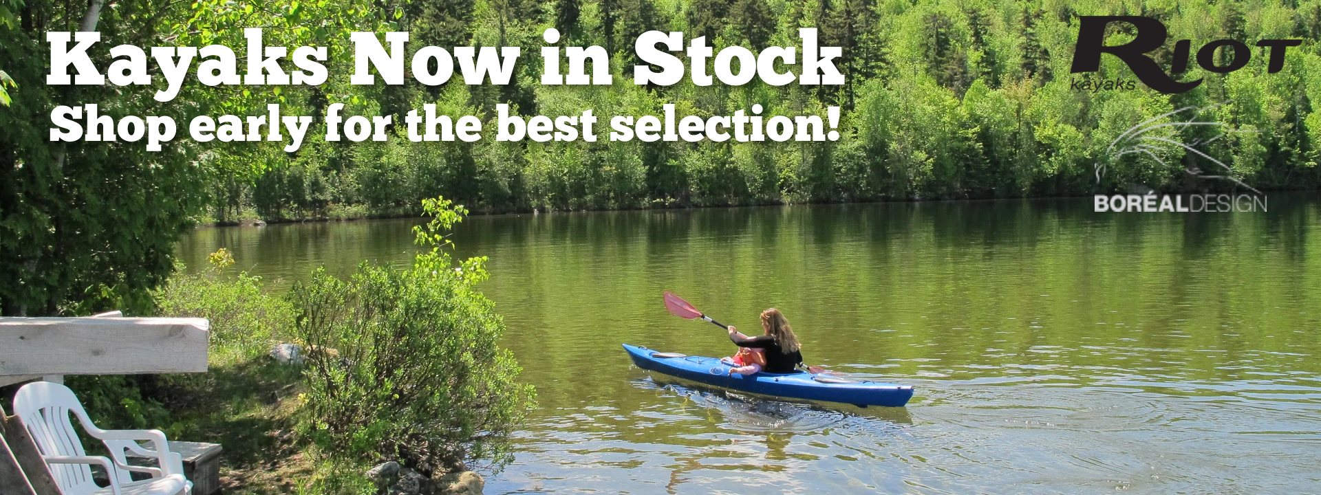 Kayaks are in Stock!