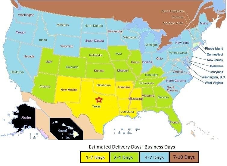 Dallas, TX Distribution Centre Map