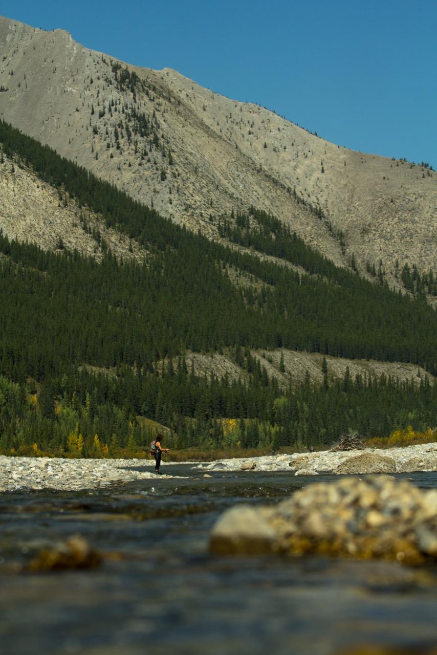 Jenna fishing in the fall