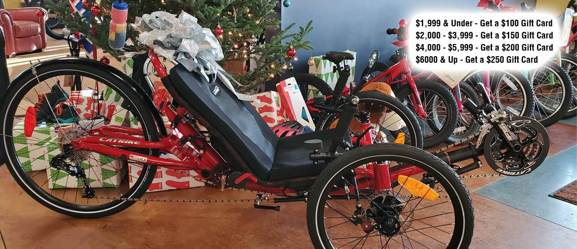 Buy any Recumbent and Get a Free Gift Card now through December 16th!