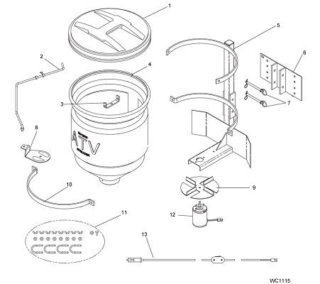 SaltDogg ATVS15A Salt Spreader Seed Spreader Fertilizer Spreader Schematic