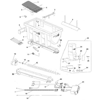 SaltDogg Shpe225 Poly Salt Spreader Schematic