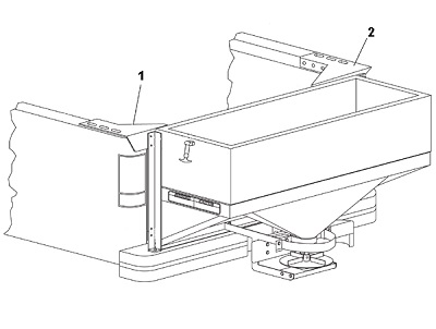Western Tailgate Spreader Mount In Bed Angelo's Supplies