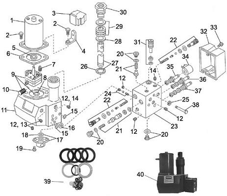 Western Hydraulic Unit Power Pak Solenoid Control Parts Angelo's Supplies