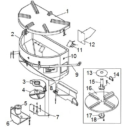 Meyer Mate TailGate Salt Spreader Parts Schematic Angelo's Supplies