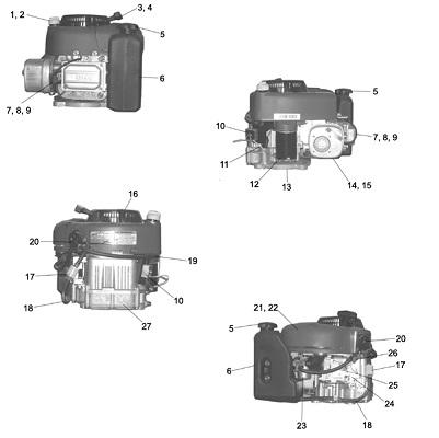 Briggs & Stratton 10.5 Intek Gas Parts Angelo's Supplies