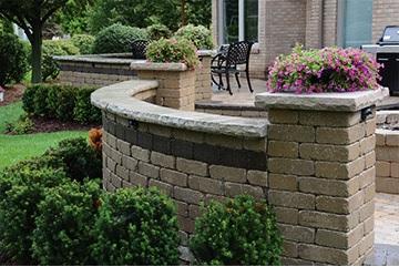 retaining garden walls, keystone,