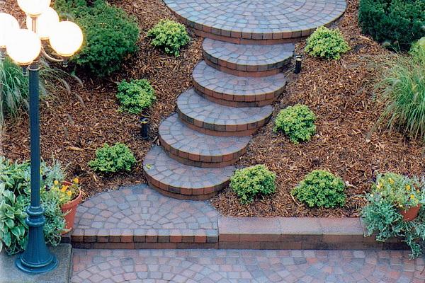 Vintage half Circle Steps