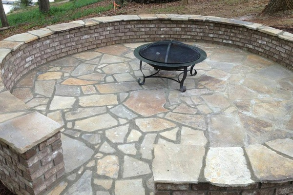 tan mist flagstone patio