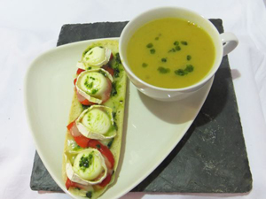 Wildflower Soup and Goats Cheese