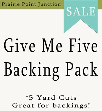Give Me Five Backing Packs