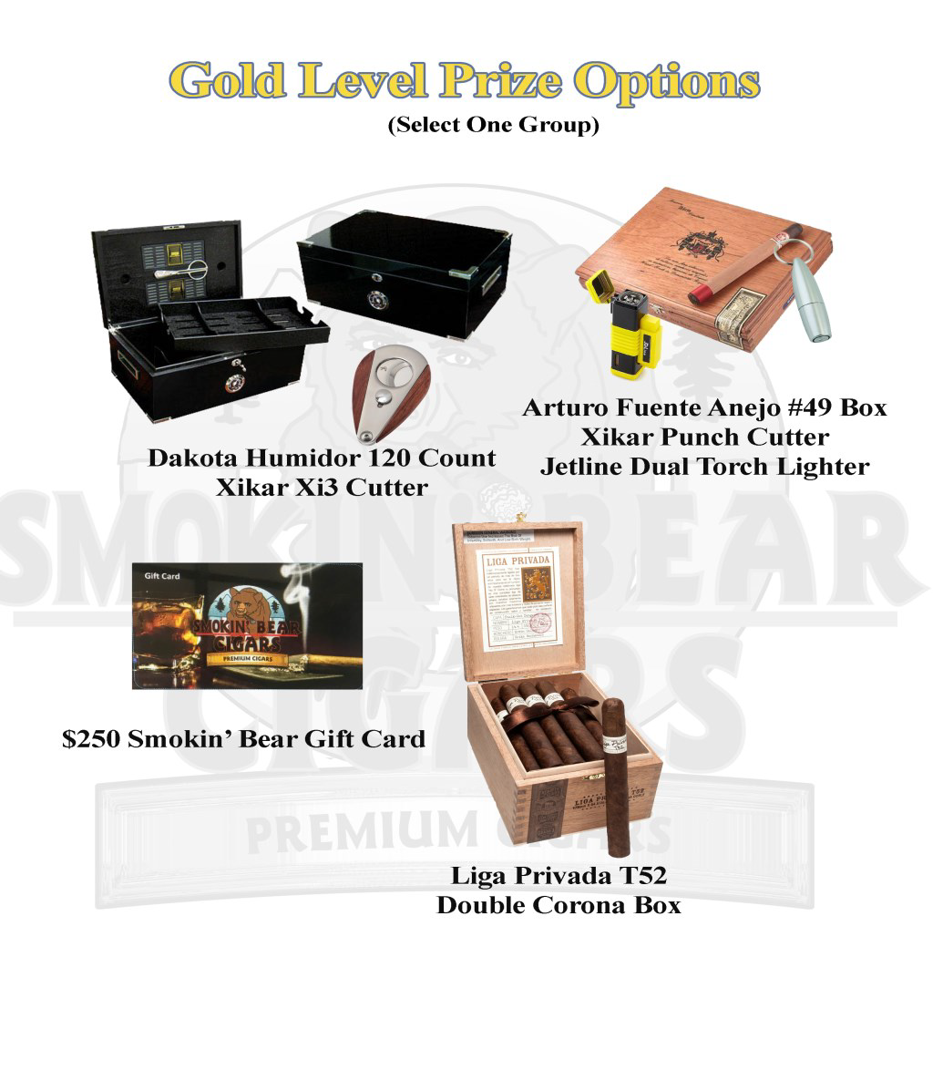 Gold Level Prize Options