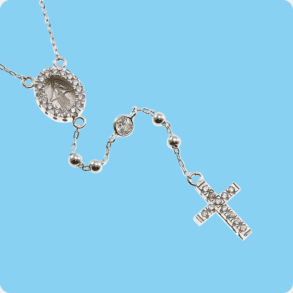 First Holy Communion Rosary Beads
