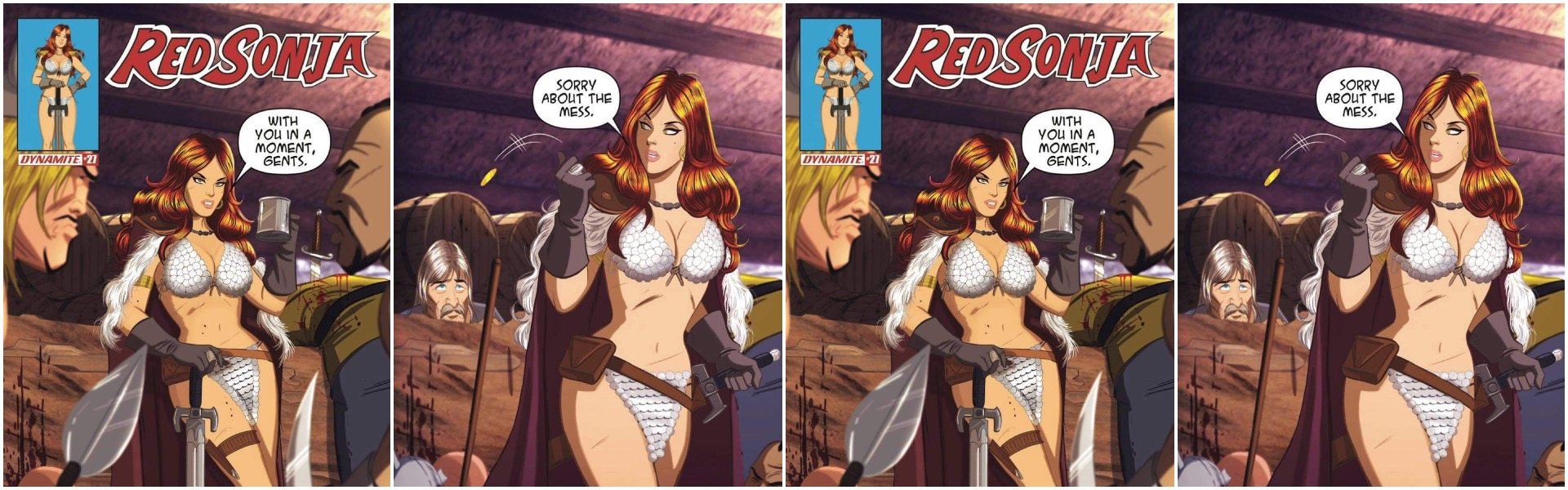 Red Sonja #27 Des Taylor Variants
