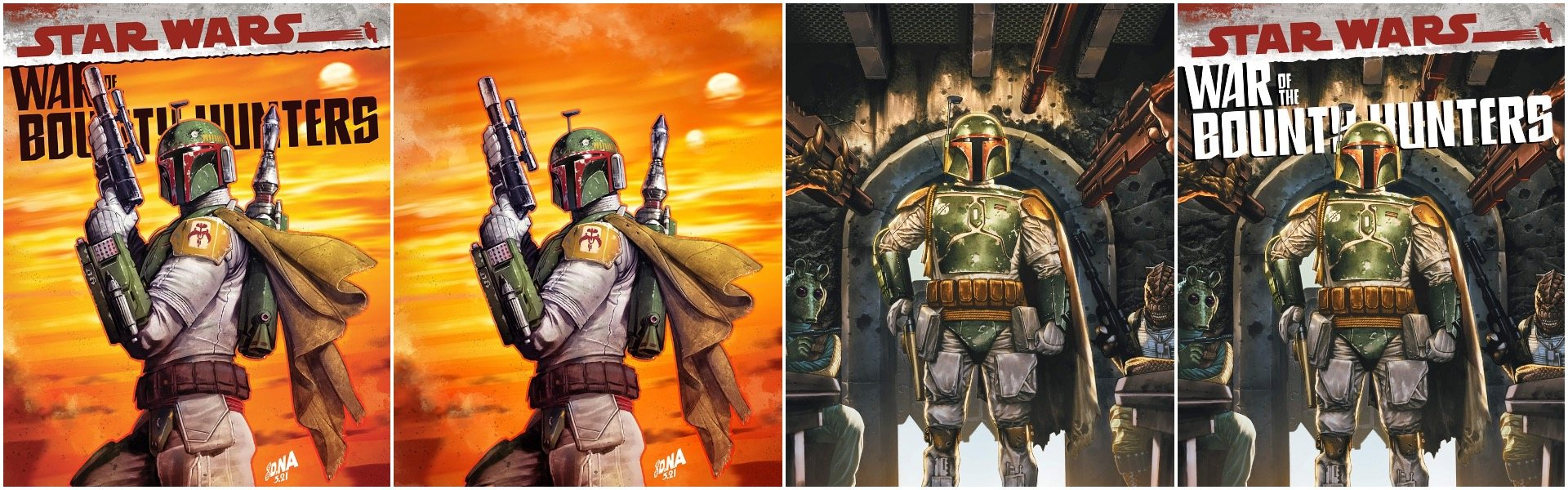 Star Wars War of the Bounty Hunters Alpha #1 David Nakayama and Mico Suayan Variants