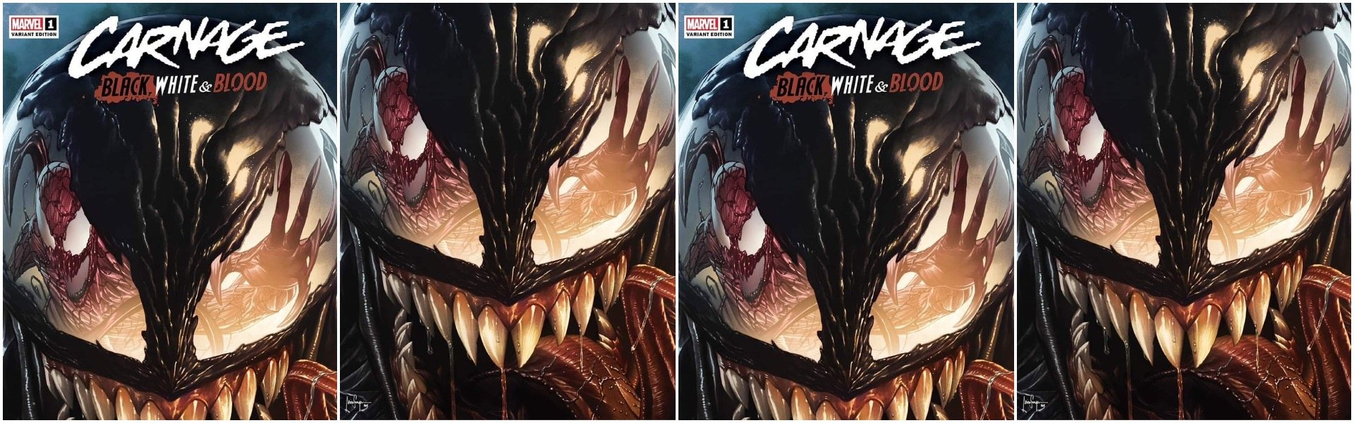 Carnage Black White and Blood #1 Mico Suayan Variants
