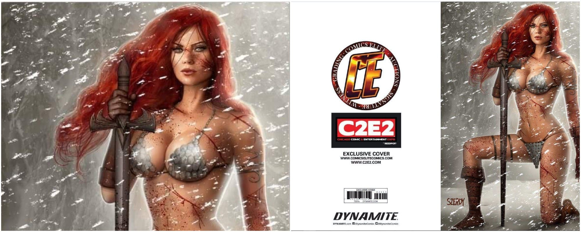 RED SONJA AGE OF CHAOS #2 C2E2 NATHAN SZERDY EXCLUSIVE VARIANT