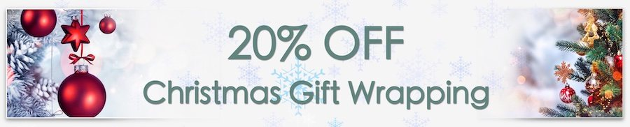 Christmas Decorations Sale. Clarkes of Bailieborough Sale. 20% off christmas gift wrapping