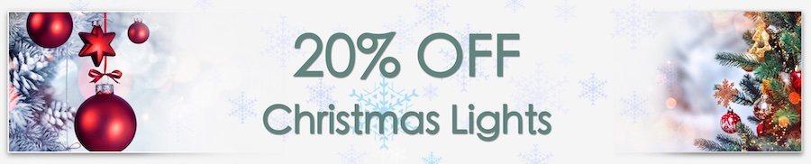 Christmas Decorations Sale. Clarkes of Bailieborough Sale. 20% off christmas lights