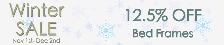 clarkes of bailieborough winter sale 12.5% off bed frames