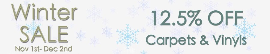 clarkes of Bailieborough Winter SALE - 12.5% OFF carpets & Vinyls