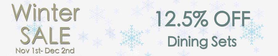 clarkes of bailieborough winter sale 12.5% off dining sets. sale
