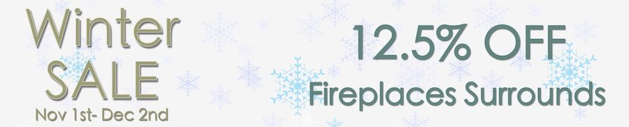 clarkes of bailieborough winter sale 12.5% off fireplaces surrounds. sale