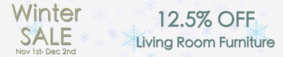 clarkes of bailieborough winter sale. 12.5% off living room furniture