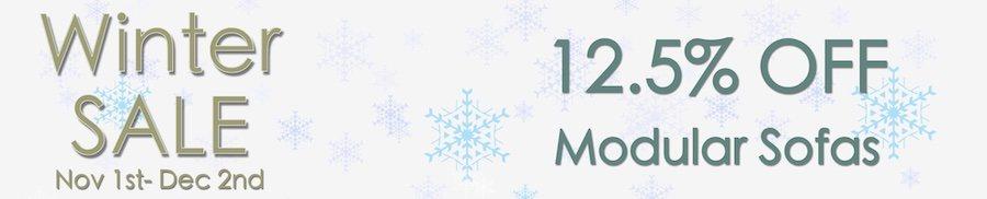 clarkes of bailieborough winter sale. 12.5% off modular sofas