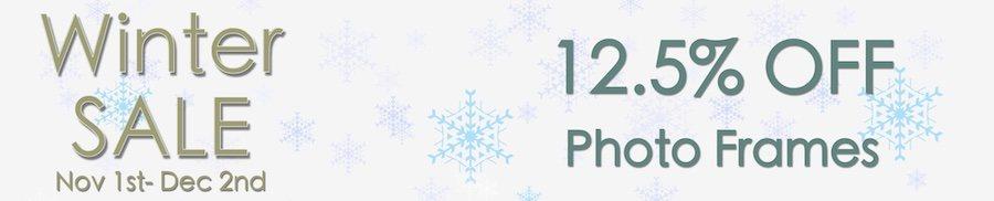 clarkes of bailieborough winter sale 12.5% off photo frames. sale