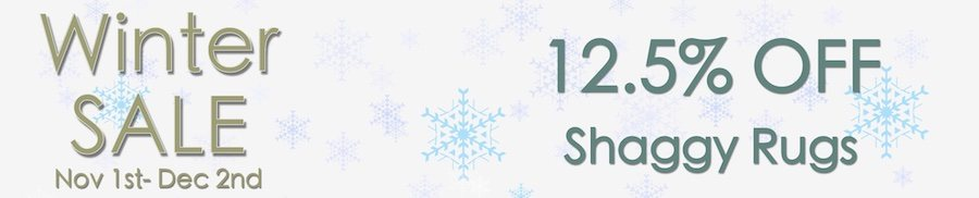 clarkes of bailieborough winter sale 12.5% off shaggy rugs. sale