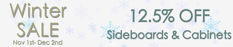 clarkes of bailieborough winter sale 12.5% off sideboards & cabinets. sale