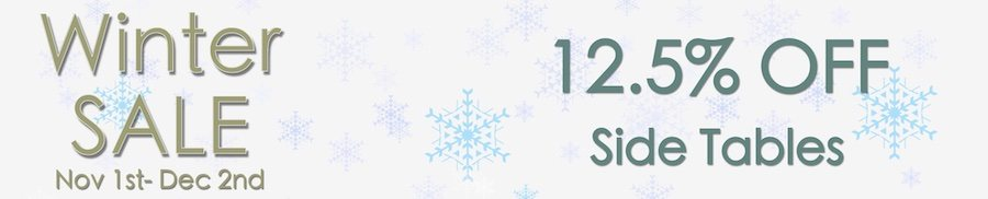 clarkes of bailieborough winter sale 12.5% off side tables. sale