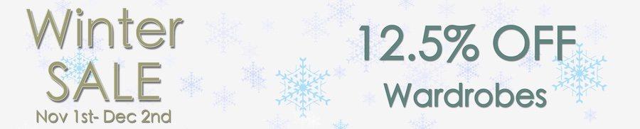 clarkes of bailieborough winter sale 12.5% off wardrobes