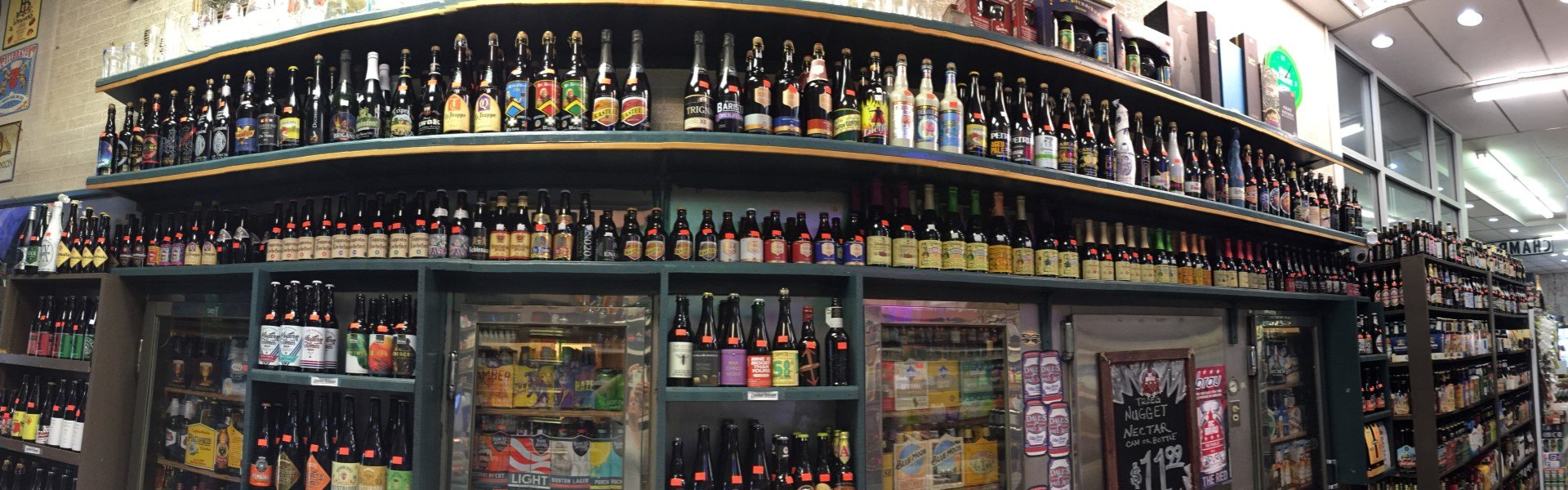 AMAZING SELECTION OF BOTTLED BEER