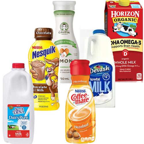 Milk, Coffee & Creamers