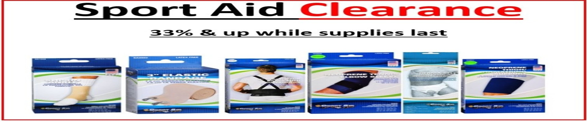 Sports-Aid Clearance 33%Off & More