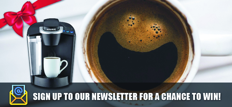 Sign up to our Newsletter for a chance to win!