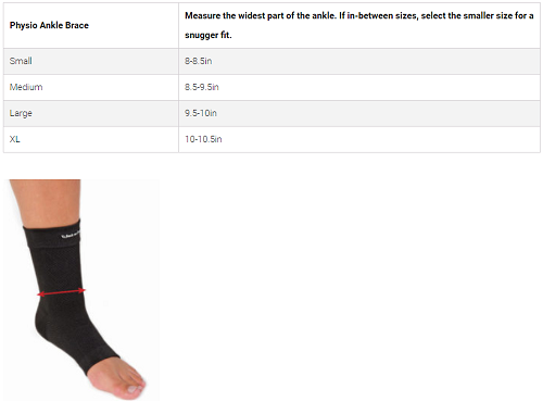 Back On Track + Physio Ankle Brace Size Chart