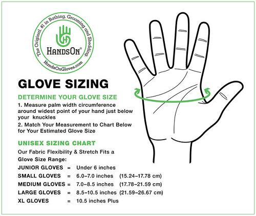 HandsOn Gloves Size Chart