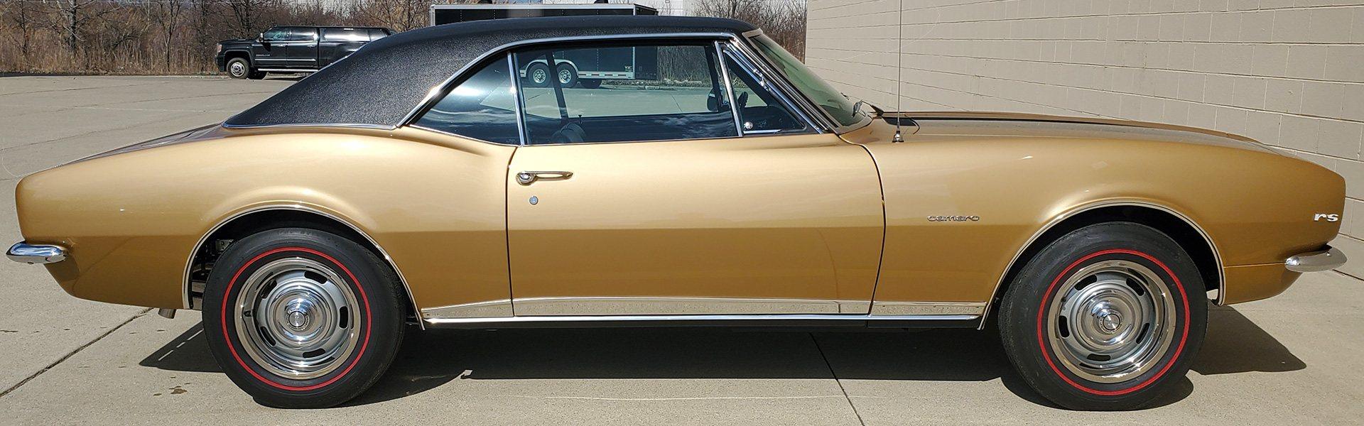 1967 Camaro Z/28 RS 302-290 HP Grenada Gold