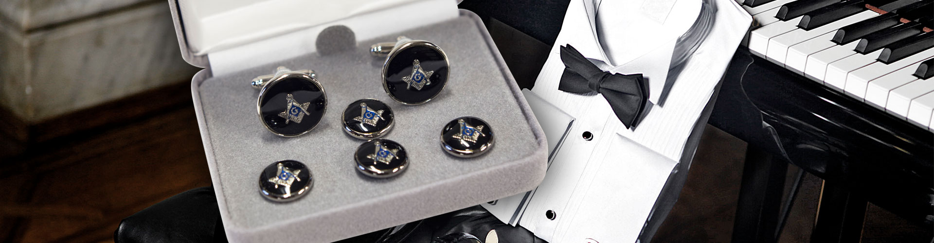 High Quality Masonic Cufflinks