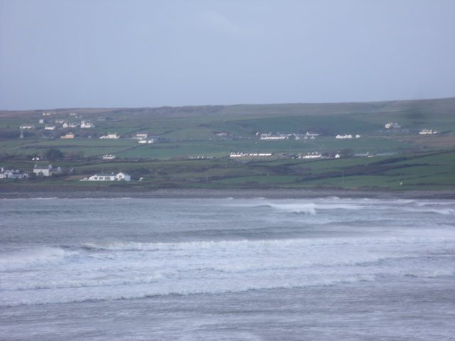 Surf at North end of Lahinch Beach