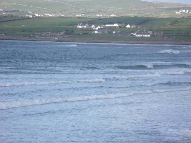 Small waves at northern end of the beach