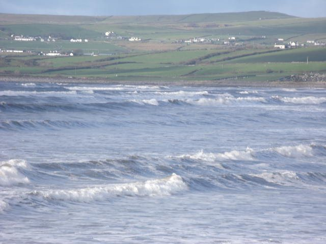 Waves at the north end of Lahinch Beach