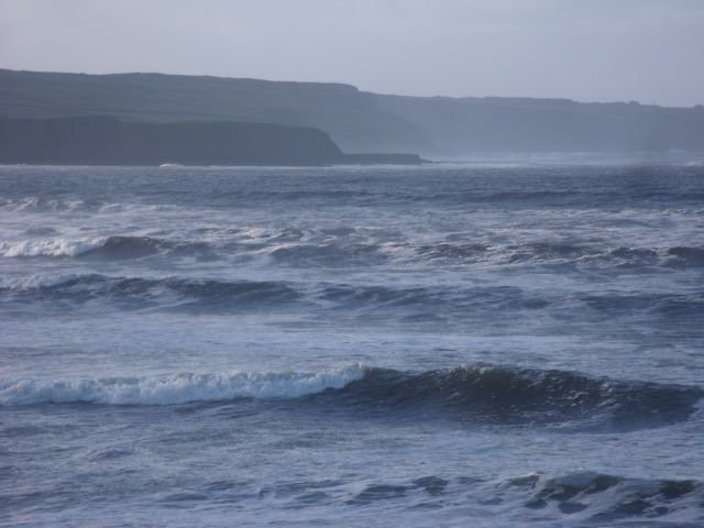 Waves at southern end of Lahinch Beach